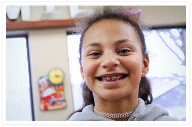 Picture of young girl with braces